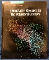 "Cover of ""Quantitative Research for the Behavioral Sciences"" by Celia Reaves"