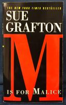 "Cover of ""M is for Malice"" by Sue Grafton"