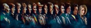 Composite photo of all 14 actors who've portrayed Dr. Who on TV over the years