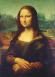 The famous Mona Lisa portrait by Leonardo da Vinci