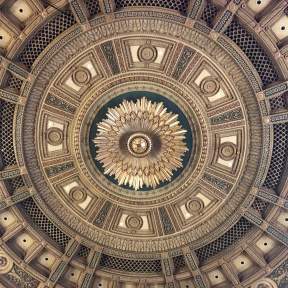 Straight-up view of an elaborate dome